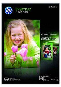 HP Everyday Photo Paper Papier Brillant A4 (210 x 297 mm) 200 g/m2 100 pc. Q2510 [Ancien Modèle] de la marque HP image 0 produit
