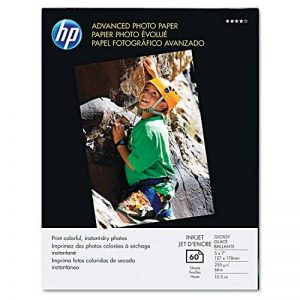HP q8690and – Papier photo avancé, 56 kg., brillant, 5 x 7, 60 feuilles/pack-hewq8690and de la marque HP image 0 produit