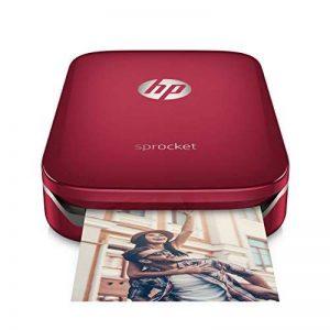 HP Sprocket Imprimante Photo Portable (Bluetooth, Impression Couleur sans Encre 5 x 7,6 cm) Rouge de la marque HP image 0 produit
