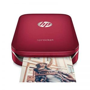 HP Sprocket Imprimante Photo Portable (Bluetooth, Impression Couleur sans Encre 5 x 7,6 cm) Rouge de la marque HP image 0 produit