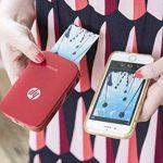 HP Sprocket Imprimante Photo Portable (Bluetooth, Impression Couleur sans Encre 5 x 7,6 cm) Rouge de la marque HP image 4 produit