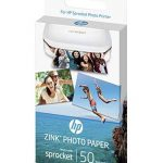 HP Sprocket Imprimante Photo portable (Bluetooth, Impression Couleur sans Encre 5 x 7,6 cm) Rouge + HP ZINK Papier Photo (50 feuilles, 5 x 7,6 cm, dos autocollant) de la marque HP image 2 produit