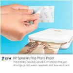 HP Sprocket Plus Imprimante Photo portable (Bluetooth, Impression Couleur sans Encre 5,8 x 8,6 cm) Blanc de la marque HP image 4 produit