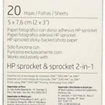 HP ZINK Papier Photo (20 feuilles, 5 x 7,6 cm, dos autocollant) de la marque HP image 1 produit