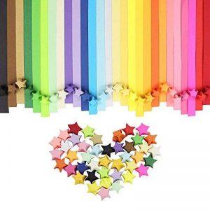 HTINAC Kits Loisirs Créatifs Papiers Stars d'Origami Étoiles d'Origami Bandes de Papier Origami, 27 Couleurs 1080 Feuilles de la marque HTINAC image 0 produit