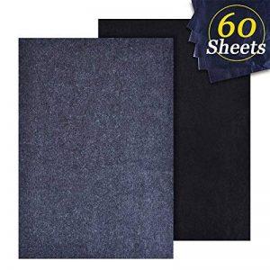 Hulubb 60 Feuilles De Transfert De Carbone Papier Graphite Papier Calque Pochoir Utilisé Pour Bois Papier Toile Métal Peint Art Surfaces (22.9 X 33 cm) de la marque HuLuBB image 0 produit