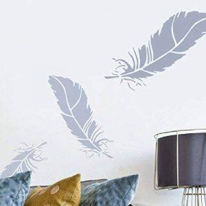 """Ideal Stencils Pochoir en forme de plume pour décoration murale et loisirs créatifs Tailles diverses, XS/18cm/7"""" de la marque Ideal Stencils image 0 produit"""