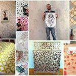 """Ideal Stencils Pochoir en forme de plume pour décoration murale et loisirs créatifs Tailles diverses, XS/18cm/7"""" de la marque Ideal Stencils image 5 produit"""