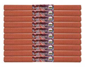 Idena 60018 papier crépon, 50 x 250 cm-lot de 10 rouleaux de papier crépon marron de la marque Idena image 0 produit