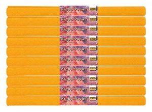 Idena 60019 papier crépon, 50 x 250 cm-lot de 10 rouleaux de papier crépon orange de la marque Idena image 0 produit