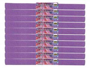Idena 60026 papier crépon, 50 x 250 cm-mauve-lot de 10 rouleaux de la marque Idena image 0 produit