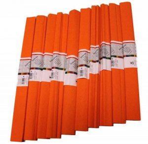 Idena 617135 Papier crépon Rouge orangé 50 x 250 cm Lot de 10 rouleaux (Import Allemagne) de la marque Idena image 0 produit
