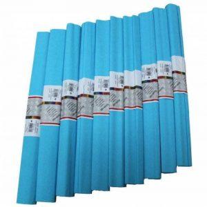 Idena 617152 Papier crépon Bleu clair 50 x 250 cm Lot de 10 rouleaux (Import Allemagne) de la marque Idena image 0 produit