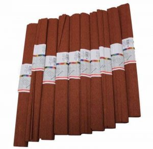 Idena 617160 Papier crépon Marron châtain 50 x 250 cm Lot de 10 rouleaux (Import Allemagne) de la marque Idena image 0 produit
