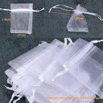 ilauke 100pcs Sacs Organza de Poche de Cadeau Mariage Bijoux Blanc 7x9cm (Blanc) de la marque ilauke image 3 produit