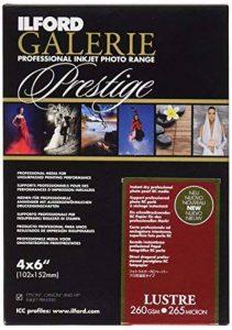 Ilford Prestige Lustre Lot de 100feuilles de papier photographique 10x15cm, 260g de la marque Ilford image 0 produit