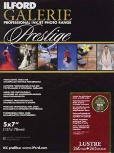 Ilford Prestige Lustre Lot de 100feuilles de papier photographique 13x18cm 260g de la marque Ilford image 0 produit