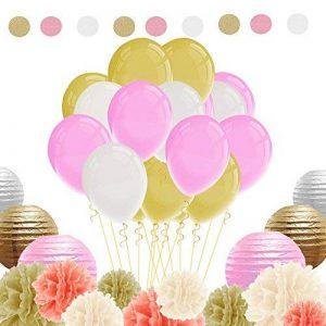 IMMIGOO Kit de 76 Pieces Décoration Fleurs de Papier Crépon Ballon Mariage Helium Noël Fête Anniversaire de la marque IMMIGOO image 0 produit