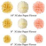 IMMIGOO Kit de 76 Pieces Décoration Fleurs de Papier Crépon Ballon Mariage Helium Noël Fête Anniversaire de la marque IMMIGOO image 2 produit