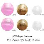 IMMIGOO Kit de 76 Pieces Décoration Fleurs de Papier Crépon Ballon Mariage Helium Noël Fête Anniversaire de la marque IMMIGOO image 3 produit