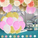 IMMIGOO Kit de 76 Pieces Décoration Fleurs de Papier Crépon Ballon Mariage Helium Noël Fête Anniversaire de la marque IMMIGOO image 4 produit
