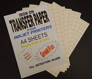 Imprimables fer sur T-Shirt tissu &de Papier transfert pour tissus clairs 20 ... de la marque Madaboutink image 0 produit