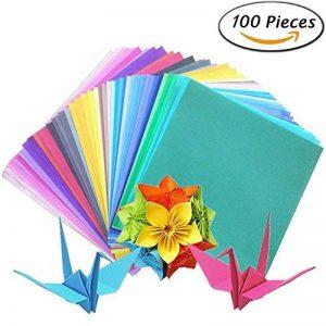 iNeith Papier Origami 100 Feuilles 50 Couleurs Simple face Pour Projets Artistiques et Artisanaux de la marque iNeith image 0 produit