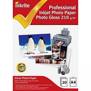 Inkrite photoplus professionnel Papier Photo Brillant 210G/M² A4(20feuilles) de la marque Inkrite image 0 produit
