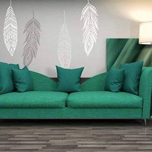 J Boutique Pochoirs de plumes décoratives Grande Pochoir Chahta, réutilisable ethnique Pochoirs pour Home DIY de la marque J BOUTIQUE STENCILS image 0 produit