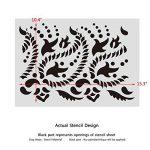 J Boutique Pochoirs Paisley Frise murale Pochoir pour DIY Décor–Indien Motif cachemire de la marque J BOUTIQUE STENCILS image 3 produit