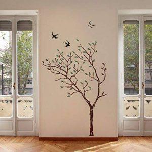J Boutique Stencils Pochoir mural Motif grand arbre avec oiseaux–Réutilisable, mieux que le papier peint de la marque J BOUTIQUE STENCILS image 0 produit