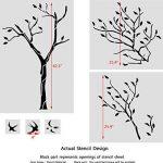 J Boutique Stencils Pochoir mural Motif grand arbre avec oiseaux–Réutilisable, mieux que le papier peint de la marque J BOUTIQUE STENCILS image 2 produit