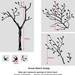J Boutique Stencils Pochoir mural Motif grand arbre avec oiseaux–Réutilisable, mieux que le papier peint de la marque J BOUTIQUE STENCILS image 1 produit