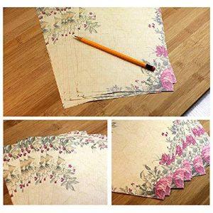 Jia HU 50pcs romantique Fleur papeterie papier à lettre carte cadeau carte postale carte de voeux rose de la marque Jia Hu image 0 produit