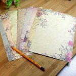 Jia HU 50pcs romantique Fleur papeterie papier à lettre carte cadeau carte postale carte de voeux rose de la marque Jia Hu image 3 produit