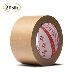 Jia HU papier kraft adhésif papier épais ruban adhésif d'emballage pour entrepôt à dos plat Dos rubans Boîte de carton d'étanchéité 30m 24mm de la marque Jia Hu image 0 produit