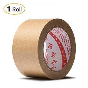 Jia HU papier kraft adhésif papier épais ruban adhésif d'emballage pour entrepôt à dos plat Dos rubans Boîte de carton d'étanchéité 50m 36mm de la marque Jia Hu image 0 produit
