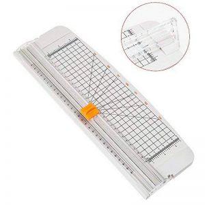 JieLiSi Massicot A4 30 cm + Lame Titane Papier Guillotine de Papier Petit Trimmer Massicot Motif pour Coupon Craft papier photo, Blanc de la marque JieLiSi image 0 produit