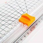 JieLiSi Massicot A4 30 cm + Lame Titane Papier Guillotine de Papier Petit Trimmer Massicot Motif pour Coupon Craft papier photo, Blanc de la marque JieLiSi image 3 produit