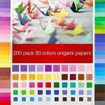 Jingxu 50 Couleurs Papier Origami 200 Feuilles Papier Simple à La Main Artisanat 6 * 6 Pouces Pour Projets Artistiques et Artisanaux Avec 100PCS Wiggle Googly Eyes de la marque Jingxu image 4 produit