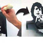 JOHNNY Rotton SEX PISTOLS pochoir DIVERS décoration murale pochoir tailles rétro Iconique Portrait Décoration artistique & ART PEINTURE TOILE ART, murs,tissus, meubles réutilisable pochoirs - 37x54cm de la marque Ideal Stencils image 3 produit