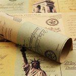 (* Journal Albizu *) Double Taille Papier d'emballage cadeau Vintage Journal Wrap Artware emballage Papier emballage Papier-5 Kraft Noël pcs dans la conception différente de 75 * 51cm de la marque Leaptech image 1 produit