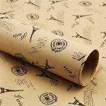 (* Journal Albizu *) Double Taille Papier d'emballage cadeau Vintage Journal Wrap Artware emballage Papier emballage Papier-5 Kraft Noël pcs dans la conception différente de 75 * 51cm de la marque Leaptech image 2 produit