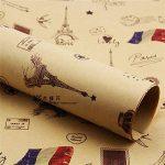 (* Journal Albizu *) Double Taille Papier d'emballage cadeau Vintage Journal Wrap Artware emballage Papier emballage Papier-5 Kraft Noël pcs dans la conception différente de 75 * 51cm de la marque Leaptech image 3 produit
