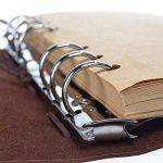 Journal en cuir ordinateur portable, carnet à spirales rechargeable HGHC rechargeable Journal de voyage en relief classique avec pages vierges et pendentifs vintage 18.5*13CM de la marque HGHC image 3 produit