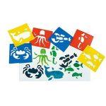 JT-Amigo Lot de 30 Pochoirs de Dessin Enfants, Animaux, Transport et Dinosaures de la marque JT-Amigo image 1 produit