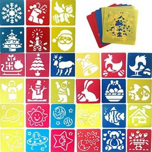 JT-Amigo Lot de 30 Pochoirs de Dessin Enfants, Animaux, Transport et Noël de la marque JT-Amigo image 0 produit