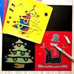 JT-Amigo Lot de 30 Pochoirs de Dessin Enfants, Animaux, Transport et Noël de la marque JT-Amigo image 1 produit