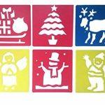 JT-Amigo Lot de 30 Pochoirs de Dessin Enfants, Animaux, Transport et Noël de la marque JT-Amigo image 4 produit