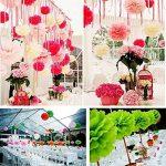 JZK 10pcs x 25cm blanc Fausses fleurs en boules en papier, décorations pour mariage  anniversaire  baptême  Communaute  parties ou diverses occasions de la marque JZK image 3 produit